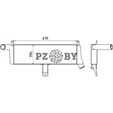 Охладитель наддувочного воздуха алюминиевый 3163А-1172010